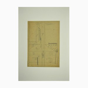 Unknown, House Outside, Pencil Drawing, Early 20th Century
