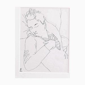 Stampa vintage di Jean Cocteau, Young Boy, anni '30