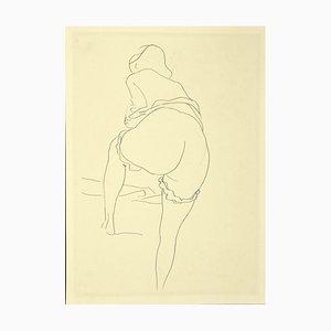 Renato Guttuso, Nude, Vintage Offset Print, 1980s