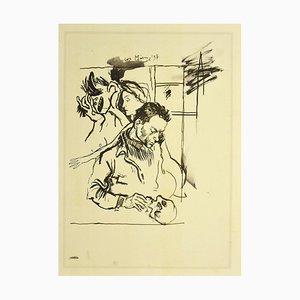 Renato Guttuso, Akt, Vintage Offsetdruck, 1980er