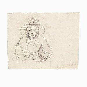 Unknown, Portrait of Woman, Bleistift, 1894