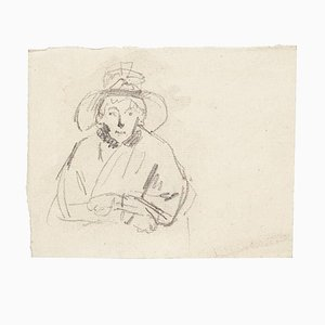 Unknown, Portrait of Woman, Pencil, 1894
