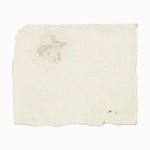 Unbekannt, Kopf eines Mannes, Bleistiftzeichnung, 1894