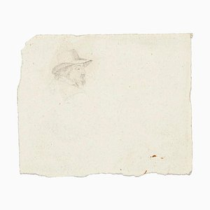 Unknown, Head of Man, Pencil Drawing, 1894