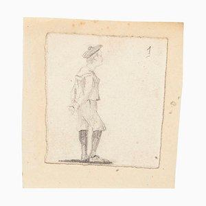 Unknown, The Student, Bleistiftzeichnung, spätes 19. Jahrhundert