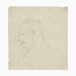 Unknown, Portrait eines Mannes, Bleistiftzeichnung, 1894