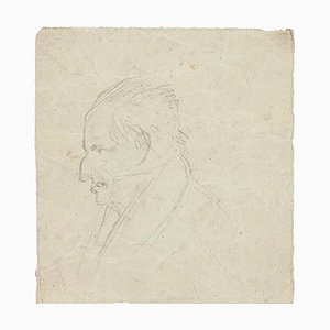 Unknown, Portrait of a Man, Pencil Drawing, 1894