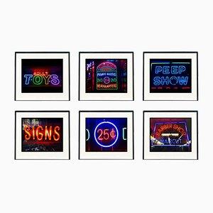 New York Neon Street Photography Artworks, Set of 6