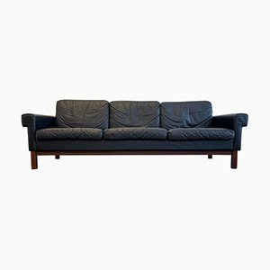 Mid-Century Leather and Teak Sofa Gotland from Ikea, Sweden, 1967