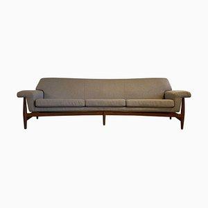 Großes geschwungenes Mid-Century Sofa von Johannes Andersen für Trensum TV-Evening, 1958