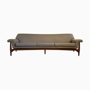 Large Mid-Century Curved Sofa by Johannes Andersen for Trensum TV-Evening, 1958