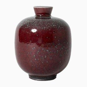 Steingut Vase von Berndt Friberg für Gustavsberg