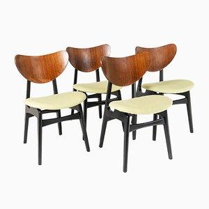 Mid-Century Butterfly Esszimmerstühle von E.Gomme für G-Plan, 4er Set