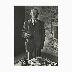 Pierre Bonnard in His Studio by André Rogi (1935) for Revue Verve