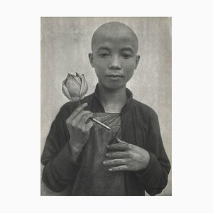 The Young Chinese with a Rose by Therese Le Prat for Revue Verve