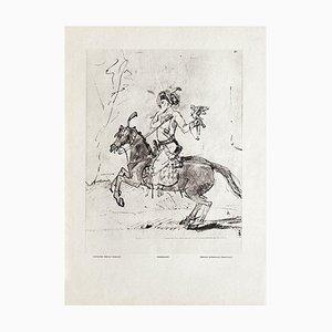 Persian Horseman, Rembrandt Drawing, Revue Verve