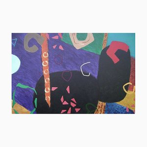 Peinture à l'Huile Night Music 3, Abstraite, 2016