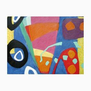 Pintura al óleo abstracta expresionista de Andalucía, 2015