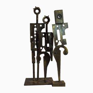 People Like Us, Steel Sculpture, 2018, Set of 2