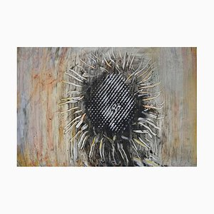 Girasol, Bodegón expresionista abstracto, Peter Rossiter, 2014