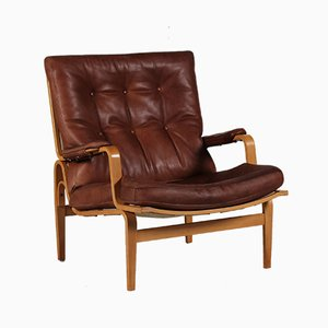 Ingrid Cognac Leather Easy Chair by Bruno Mathsson for Dux