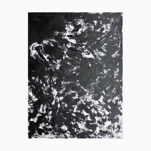 Espressione in bianco e nero, grande dipinto astratto, Sax Berlin
