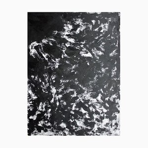 Expression Black and White, Large Abstract Painting, Sax Berlin