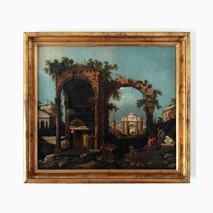 Kopie von Capriccio mit Ruinen, Canaletto. Öl auf Leinwand, 2018