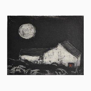Red Door Cottage, Limited Edition, Radierung, 2013
