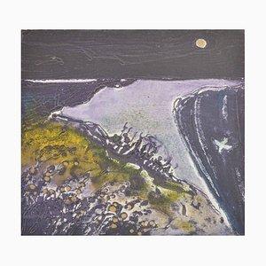 Moonlight in Purple, Limitierte Auflage Radierung, 2016