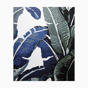 Bananenblätter, 4, Stillleben, Acryl auf Leinwand, Malerei, 2015