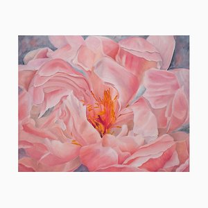 Floating Peony, Still Life, Oil Painting