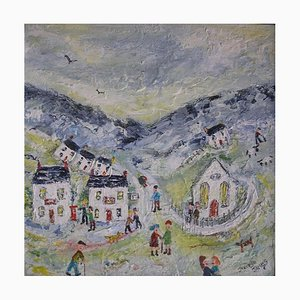 The Peaceful Valley, Naive School Painting, 2012