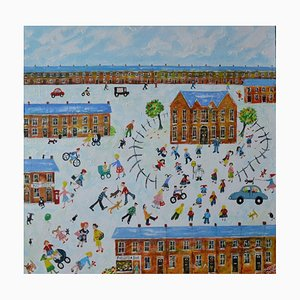 1. Tag in der Schule, Naive School Painting, 2015