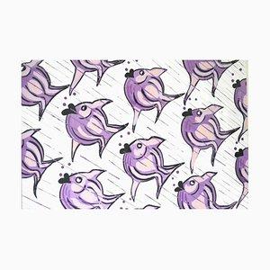 Lilac Fish, Watercolor