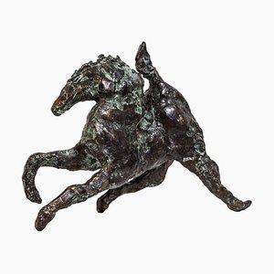 Streicher, Bronzepferd, Rohe Kanten, Wachs