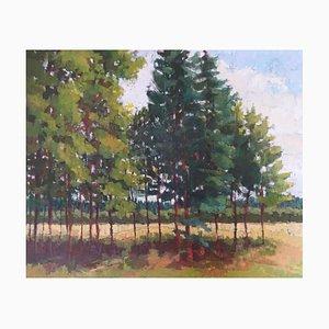 Edge of the Trees, Englische Landschaft, Öl auf Leinwand, 2018 gerahmt