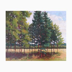 Edge of the Trees, English Landscape, Framed Oil on Canvas, 2018
