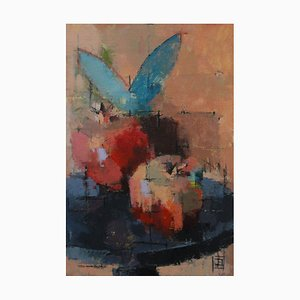 Granadas, Bodegón, óleo sobre lienzo, 2018