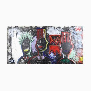 Bloods Equality Nyc, Neo-Expressionist Painting