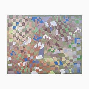 Abstract Number 5, Öl auf Karton, Malerei, 2019
