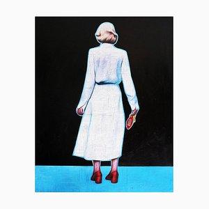 Annie Terrazzo, Tschüss, 2019, Pastell auf Holz