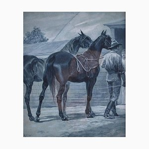 Bring the Horses Home, Watercolor by Richard Caton Woodville