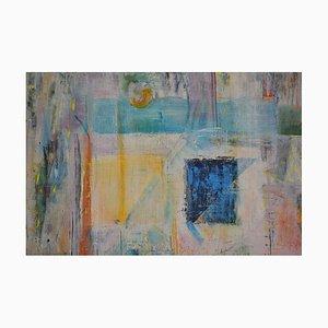 Blue Rectangle, Mixed Media Malerei von Peter Rossiter, 2012