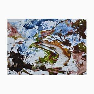 Unten Bein Dearg, Contemporary Abstract Schottische Landschaft von James Hawkins, 1994
