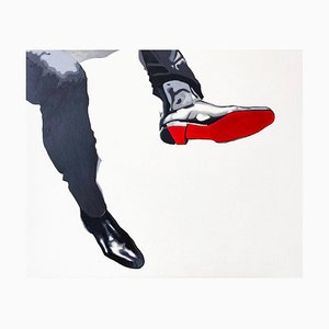 Fast, Contemporary Figurative Acrylic on Canvas Painting by Anna Malikowska, 2018