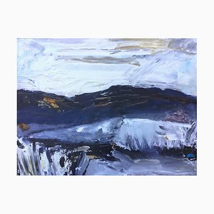 Scratch and Splash, Contemporary Abstract Expressionist Landscape Painting, 2020