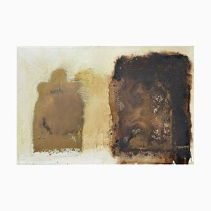 Brown and White Abstract, Contemporary Abstract Oil Painting by Paul Wadsworth, 2003