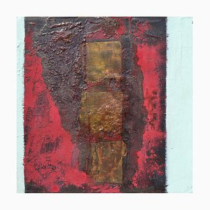 Pintura al óleo On the Town, contemporánea abstracta expresionista de Paul Wadsworth, 2003