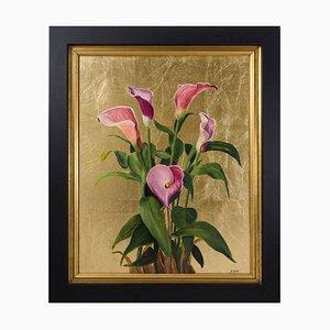 Pink Calla Lilies, Stillleben Ölgemälde